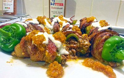 Stuffed Anaheim Chili Wrapped in Bacon