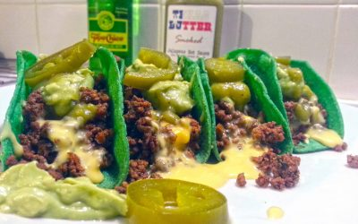 St Patties Day Green Tacos