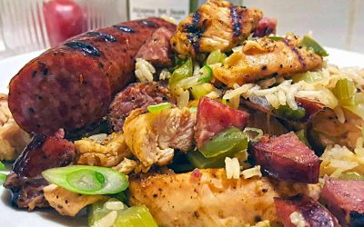 Grilled Chicken and Andouille Jambalaya