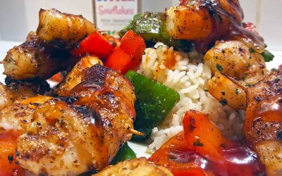 Grilled Bacon Shrimp Asian Persuasion