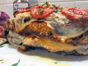 Texas Butter Recipe Fried Eggplant Parmigiana Grilled Chicken Tower